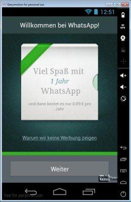 WhatsApp im Emulator