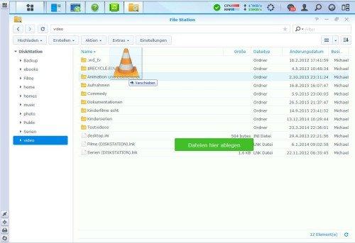 Kopieren in die FileStation