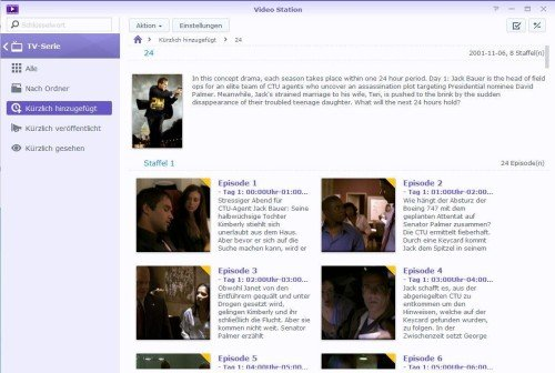 Video Station Serien