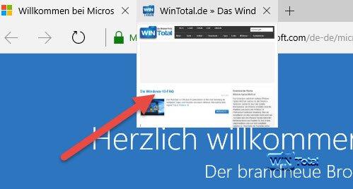 Tabvorschau Microsoft Edge