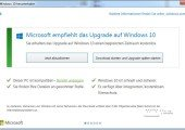 Neuer Hinweis auf Windows 10