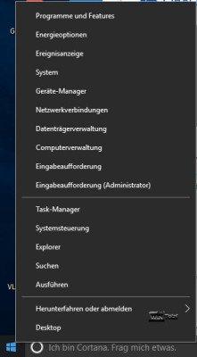 Kontextmenü Windows 10