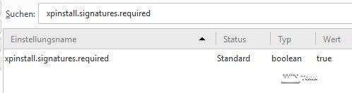 Signaturzwang Firefox