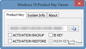 Windows 10 Product Key Viewer