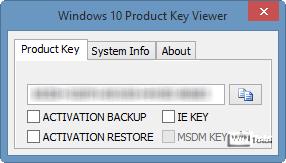 Windows 10 Product Key Viewer