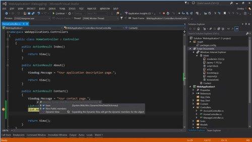 Entwicklung mit Visual Studio. Bildquelle: visualstudio