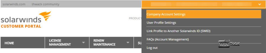Solarwinds Customer Portal