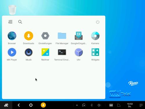 Abbildung 1: Desktop mit installierten Apps
