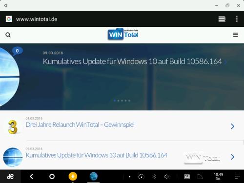 Abbildung 3: Browser mit WinTotal in der mobilen Version