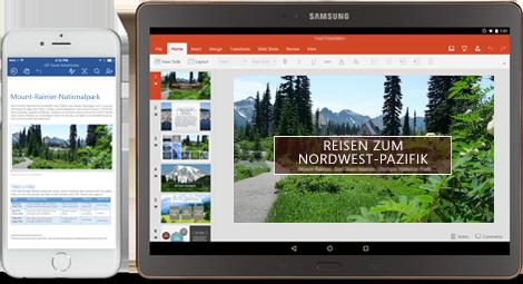 Office mobil, Bildquelle:Microsoft