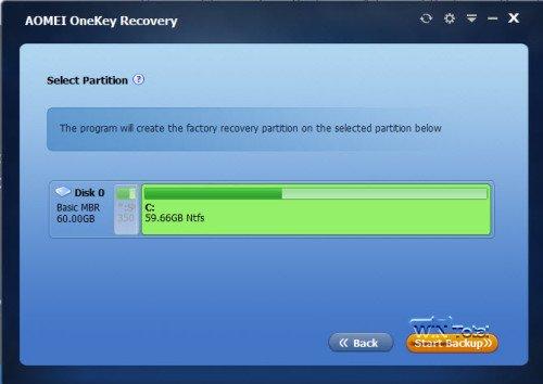 Erstellung der Recovery-Partition