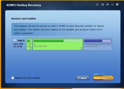 System mit Recovery-Partition