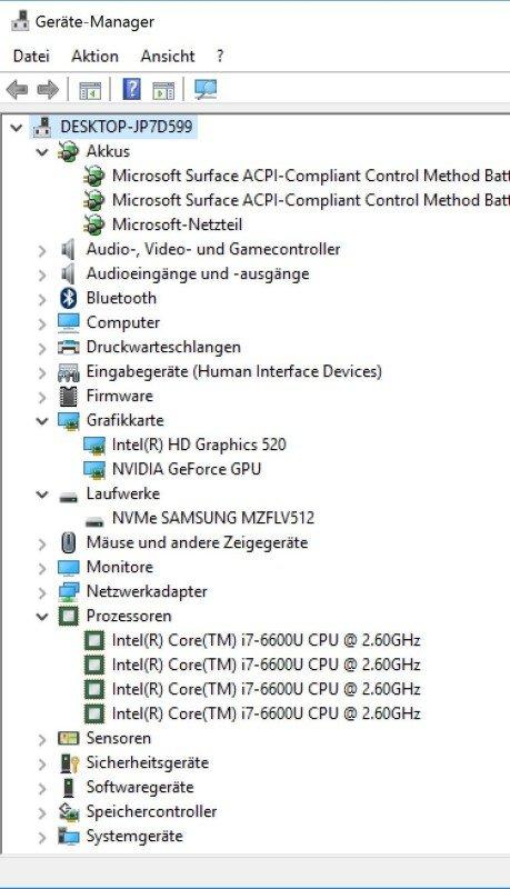 Ausstattung unseres Testsystems mit 2 GPU, schneller SSD und i7 CPU