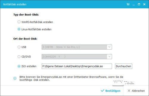 Notfalldatenräger