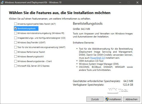 ADK für Windows 10