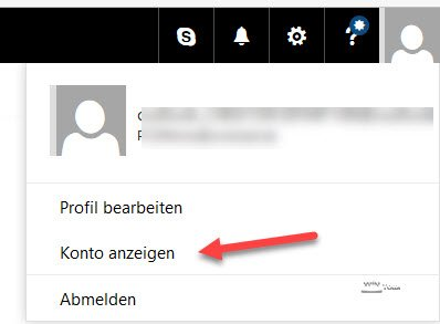 Profil vom Microsoft-Konto