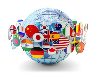 Globus, Sprache, Kommunikation