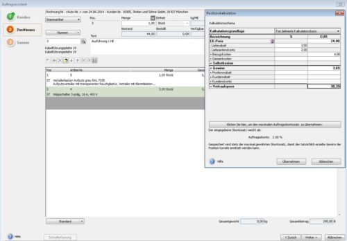 Lexware Warenwirtschaft Angebotskalkulation