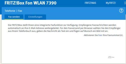 Fritz!Box - Faxnummer