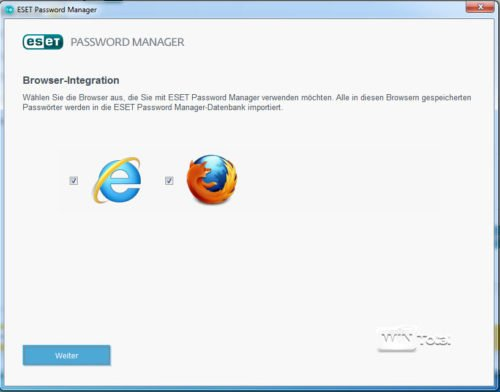 Einbindung in Browser