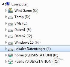 Einbindung in Windows