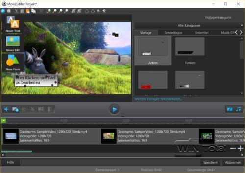 Ashampoo Burning Studio 18, Videoschnitt