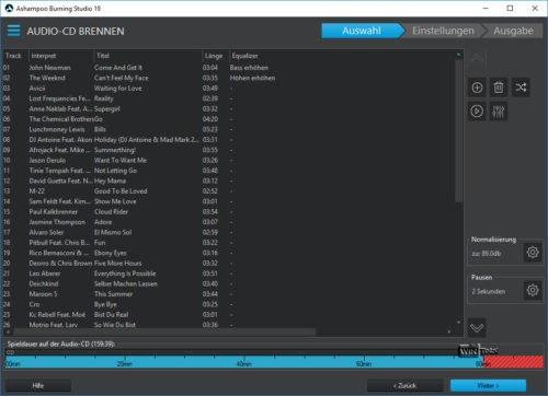 Audio-CD brennen