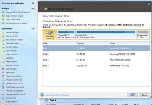 Migration auf SSD