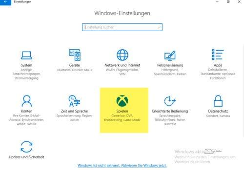 Spielen unter Windows 10