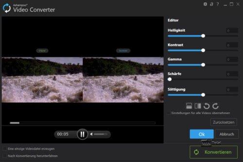 Anpassung der Videoeigenschaften