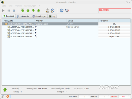 Screenshot JDownloader MP3 Download