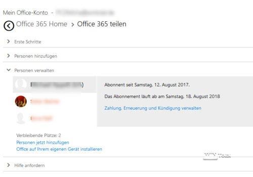 Office-Konto