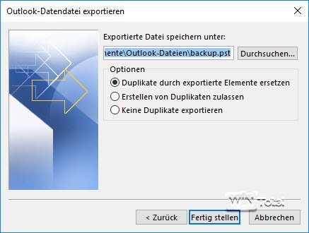 Outlook Export