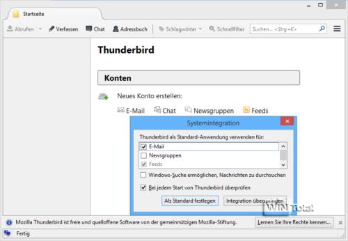Einrichtung eines neuen Kontos in Thunderbird