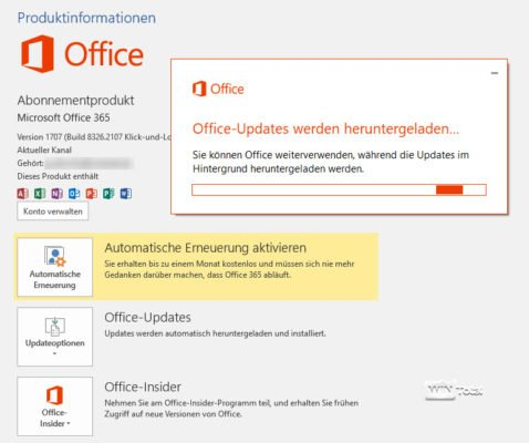 Updates in Office 365
