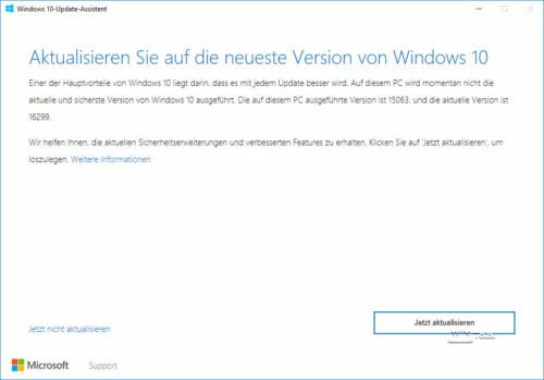 Upgrade zum Fall Creators Update