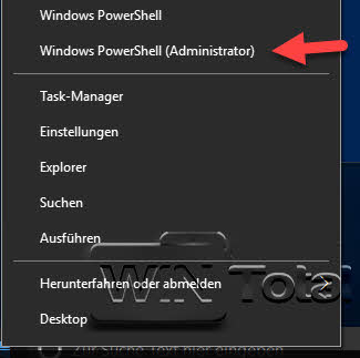 PowerShell als Administrator