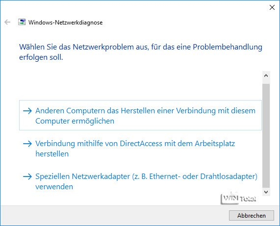 Windows-Netzwerkdiagnose