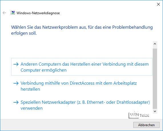 Windows-Netzwerkdiagnose