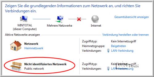 Nicht identifiziertes Netzwerk