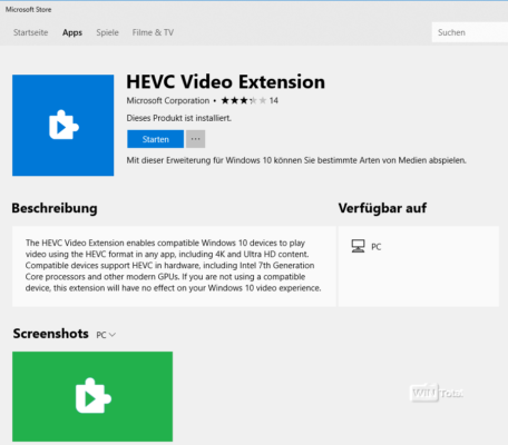 HEVC Video Extension