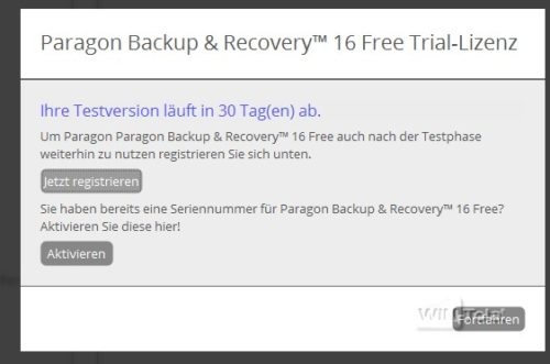 Paragon Backp & Recovery 16 Free