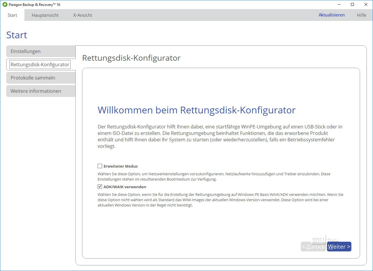paragon backup & recovery 16 free edition (deutsch)