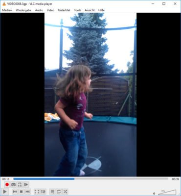 Gedrehtes Video in VLC