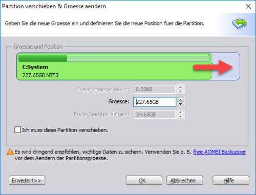 Windows 10 Partition vergrößern