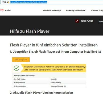Flash testen