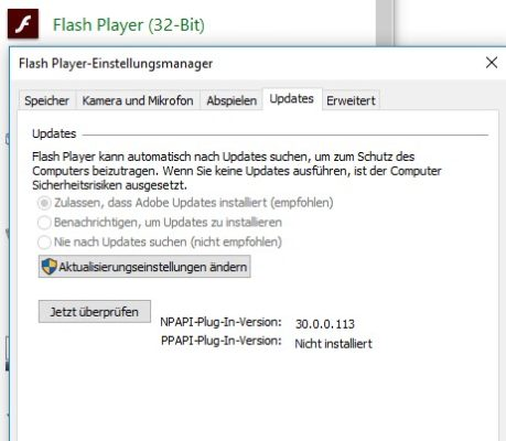 Flash updaten