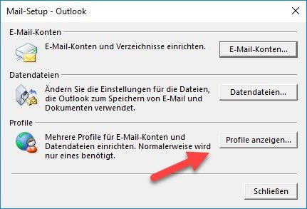 Profile in Outlook