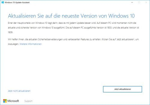 Update-Assistent für Windows 10