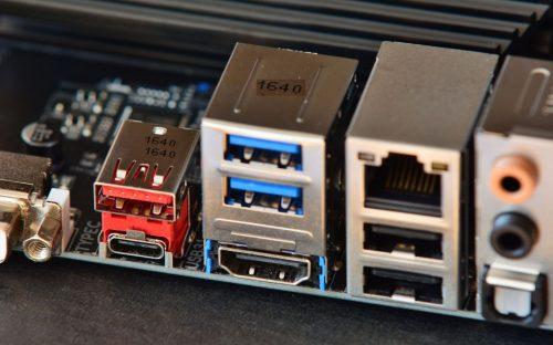 Mainboard mit USB Typ C